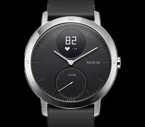 Nokia Steel HR  Okosóra pulzus mérővel, fekete