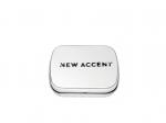 New Accent piros csiszolt beton fülbevaló