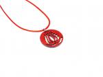 Handrea piros Tulipános nyaklánc, kicsi