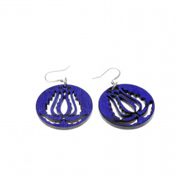 Handrea Blue Tulip Earrings, small
