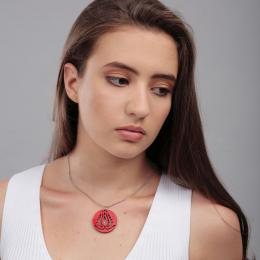 Handrea Red Tulip Pendant, small