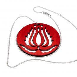 Handrea piros Tulipános nyaklánc, nagy
