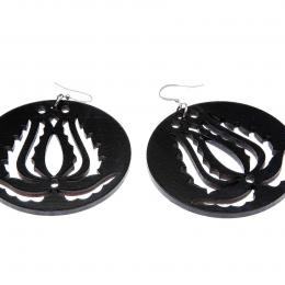 Handrea Black Tulip Earrings, large