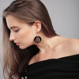 Handrea Black Tulip Earrings, small