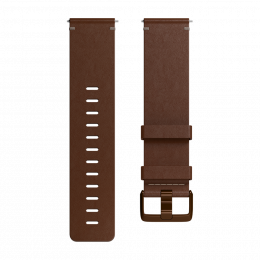 Leather Band for Fitbit Versa, Cognac